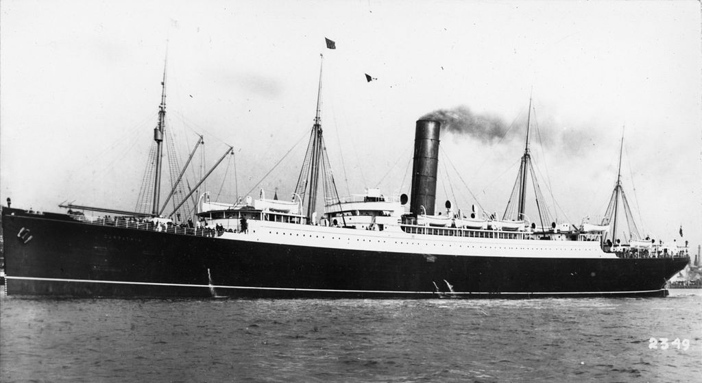 RMS Carpathia via Wiki Commons