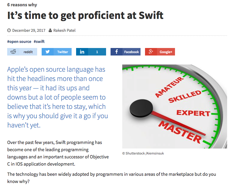 The explainer on the importance of Swift (jaxenter.com)