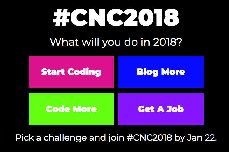 I took the CodeNewbie Challenge and selected the Blog More challenge. This is the first part of my series on #CNC2018. (CodeNewbie)