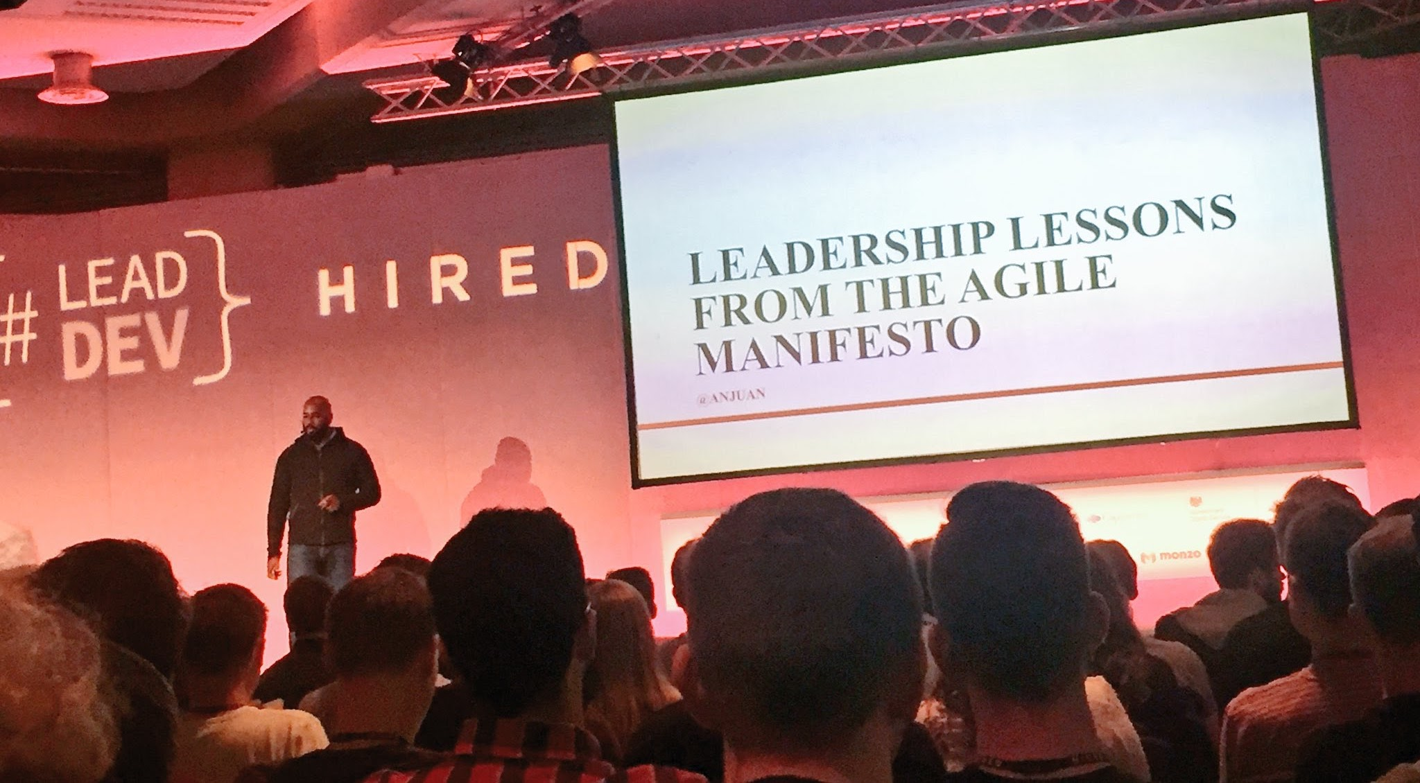 Giving my Leadership Lessons from the Agile Manifesto talk at The Lead Developer UK in London.
