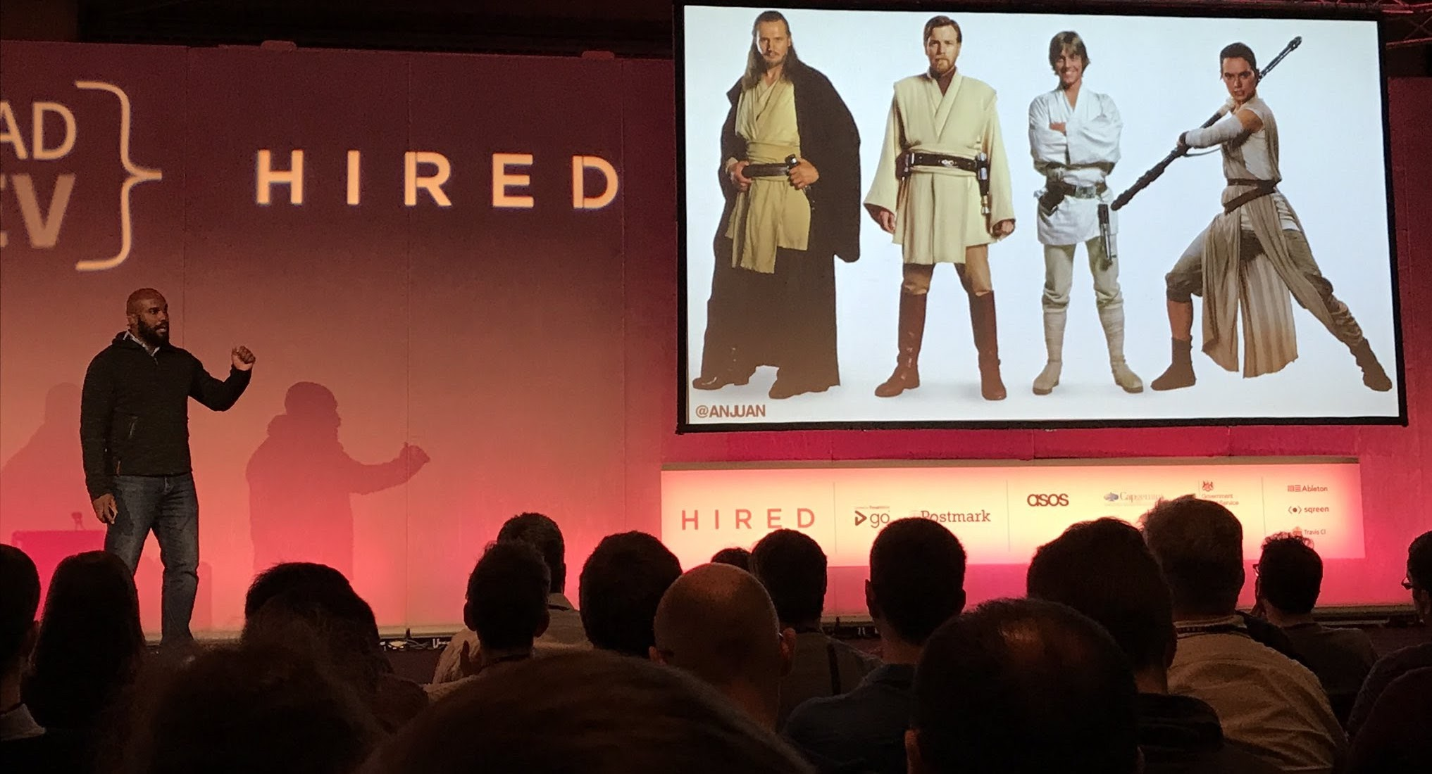 On stage at The Lead Developer UK in London
