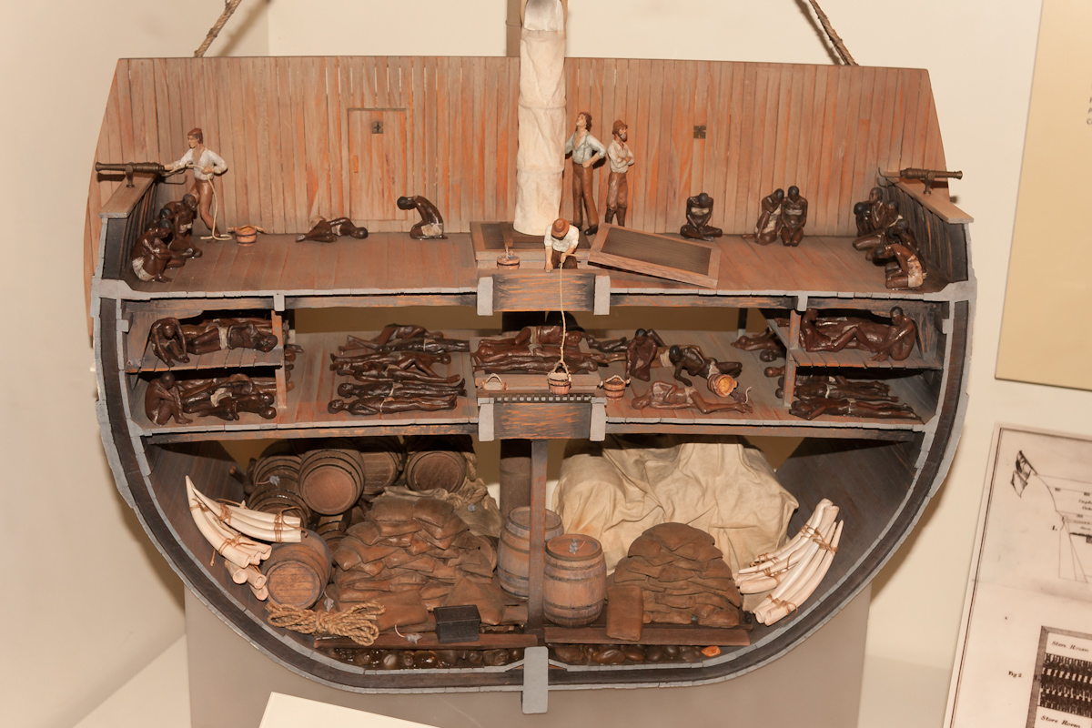 Slave ship model displayed at the National Museum of American History (Smithsonian Institution)